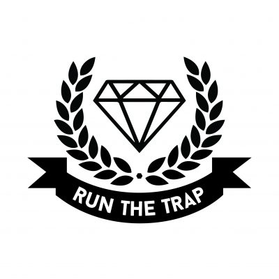 Run The Trap logo sticker