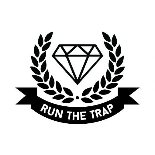 Run The Trap logo sticker